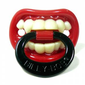 Chupetes Dientes - Chupete Pequeño Vampiro Rojo - Little Vampire Pacifier Billy Bob